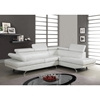 Leslie Sectional Sofa - White Bonded Leather