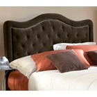 Trieste Fabric Headboard - Button Tufts, Nail Heads, Chocolate