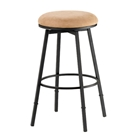 Sanders Adjustable Backless Swivel Bar Stool