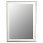 Alpha White Petite Bevel Mirror - Made in USA