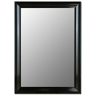 Arundel Black Petite Bevel Mirror - Made in USA