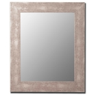 Delroy Contemporary Mirror in Aosta Silver - Made in USA
