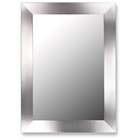 Denham Modern Stainless Flat Frame Mirror - Made in USA