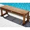 Le Spa 4 Foot Teak Wood Slatted Bench - INF-1392