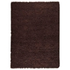 Ceres Hand Woven Wool Rug in Chocolate Brown