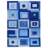 Carley Hand Tufted Wool Rug in Blue