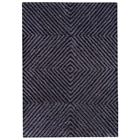 Diamond Hand Tufted Wool and Linen Rug in Blue