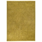 Diamond Hand Tufted Wool and Linen Rug in Green