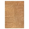 Evonne Hand Woven Polyester Shaggy Rug in Beige