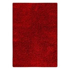 Evonne Hand Woven Polyester Shaggy Rug in Red