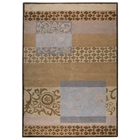 Gypsy Hand Tufted Wool Rug in Tan and Grey