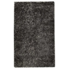 Iris Hand Woven Shaggy Rug in Grey and Charcoal