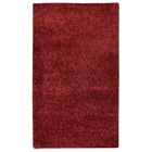 Iris Hand Woven Shaggy Rug in Red