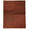 Isolde Hand Woven Wool and Hemp Rug in Rust