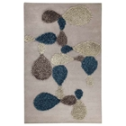 Kalista Hand Tufted Wool and Polyester Rug in Grey and Blue