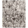 Lucetta Hand Woven Polyester Shaggy Rug in Silver