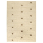 Nurhan Hand Knotted Indo Tibetan Wool Rug in Off-White