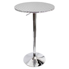 Bistro Height Adjustable Bar Table - Round