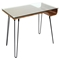 Avery Rectangular Office Desk - Walnut, Clear - LMS-OFD-AVERY-WL