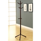 Glory Contemporary Coat Rack - Wood, Cappuccino Finish