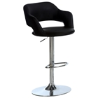 Euphoria Adjustable Bar Stool with Arms - Chrome, Black