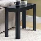 Adagio Contemporary Side Table - Black Oak Finish