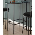 Whimsy Half Racetrack Top Pub Table - Charcoal Metal