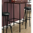 Brio Half Racetrack Top Pub Table - Cappuccino, Black Metal