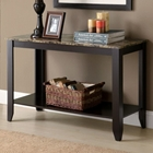 Meissner Sofa Table - Bottom Shelf, Cappuccino Finish