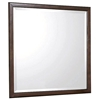 Edison Square Beveled Mirror - Java Oak Frame
