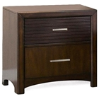 Edison 2-Drawer Nightstand - Hardwood, Java Oak Finish