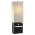 Waterfall Table Lamp with Oatmeal Fabric Shade