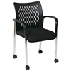 Pro-Line II ProGrid Black Seat Guest Chair with Casters (Set of 2)