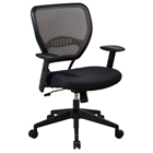 Space Seating 55 Series Deluxe Latte AirGrid Back Managers Chair