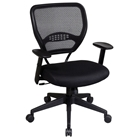 Space Seating 55 Series Professional Black Managers Chair