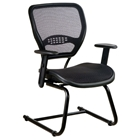 Space Seating 55 Series AirGrid Seat and Back Deluxe Visitors Chair