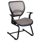Space Seating 55 Series Deluxe Latte AirGrid Seat and Back Visitors Chair