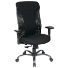 Pro-Line II Ergonomic Mesh High Back Office Chair with Titanium Finished Base
