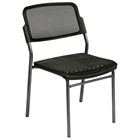 Pro-Line II Stacking ProGrid Chair with Titanium Finished Frame (Set of 2)