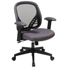 Space Seating 819 Series DuraGrid Back and Charcoal Mesh Seat Managers Chair