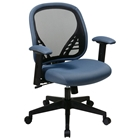 Space Seating 819 Series DuraGrid Back and Blue Mist Mesh Seat Managers Chair