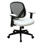 Space Seating 819 Series DuraGrid Back and White Vinyl Seat Managers Chair