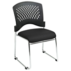 Pro-Line II Stacking Charcoal FreeFlex Visitors Chair with Chrome Sled Base (Set of 2)