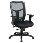 Pro-Line II ProGrid Back Managers Chair with Custom Seat Cover