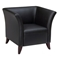 Black Leather Armchair, Loveseat, and Sofa Set with Cherry Feet - OSP-SL1571-SL1572-SL1573