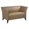 Contemporary Loveseat with Cherry Finished Feet - OSP-SL1872