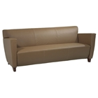 Contemporary Track Arms Sofa in Leather