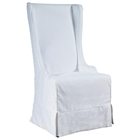 Atlantic Beach Dining Chair - Sun Bleached White Linen Slipcover