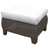 Outdoor Bay Harbor Wicker Ottoman - Fabric Cushion