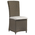 Outdoor Nico Dining Chair - White Cushion, All-Weather Wicker